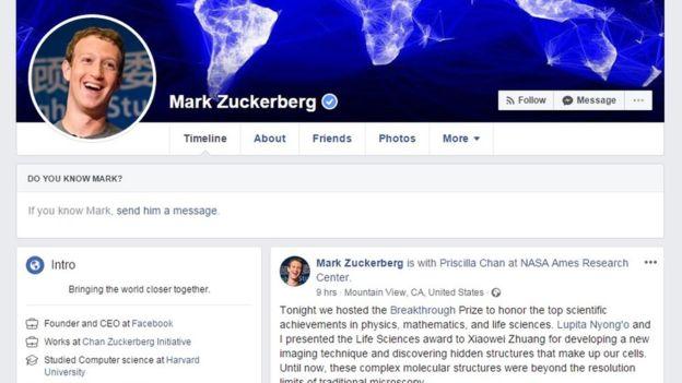 Zuckerberg no permite que otros usuarios le envíen solicitudes de amistad. (MARK ZUCKERBERG/FACEBOOK)