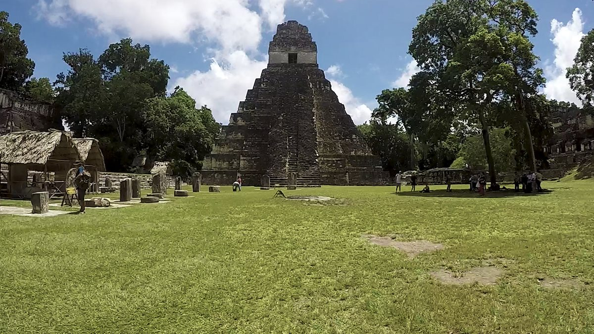 Templo de El Gran Jaguar, Parque Nacional Tikal. (Fotografía Prensa Libre: Alvaro González)