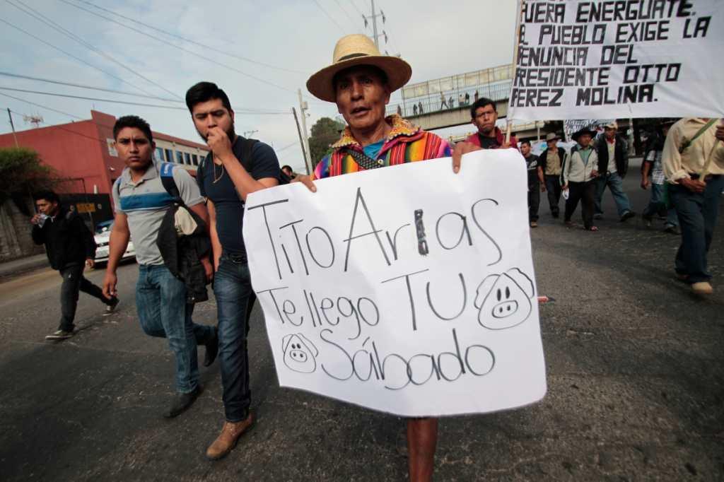 El miércoles 20 de mayo campesinos hicieron su entrada a la capital.