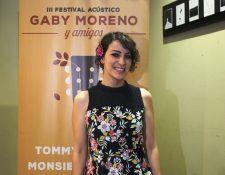La cantautora guatemalteca Gaby Moreno ofrecerá una velada musical en la que incluirá sorpresas y diversidad de estilos. (Foto Prensa Libre: Keneth Cruz)