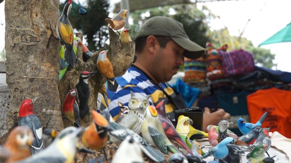 Un artesano que vive de las aves en Antigua Guatemala