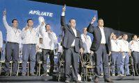 Se llevó a cabo la asamblea general del partido Vamos donde se eligió al binomio presidencial integrado por Alejandro Giammattei y Guillermo Castillo. (Foto Prensa Libre: Hemeroteca PL)