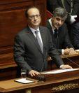El presidente francés Francois Hollande durante su discurso ante los parlamentarios en Versalles, Francia.