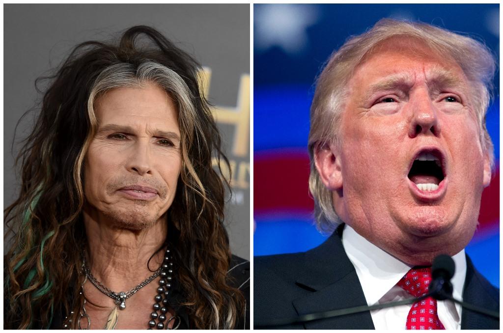 El vocalista de Aerosmith, Steven Tyler, ha solicitado a Donald Trump que deje de utilizar la música del grupo en sus actos de campaña. (Foto Prensa Libre: AP)
