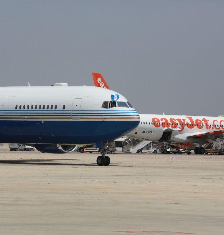 En avión en que voló Morales y su comitiva es un Boeing 767-300ER, matrícula estadounidense. (Foto Prensa Libre: Hemeroteca PL)