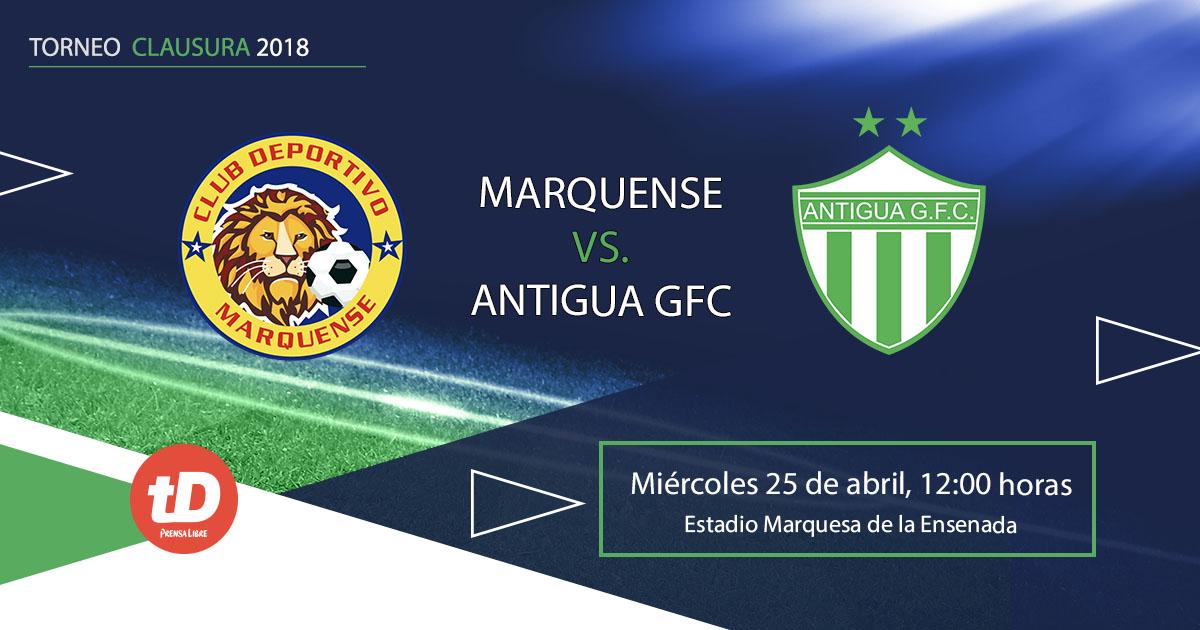 Minuto a minuto| Marquense recibe a Antigua GFC