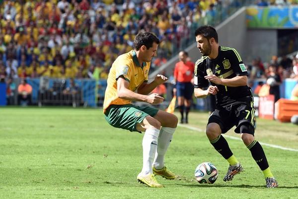 """España y Australia luchan por despedirse del Mundial con honor. (Foto Prensa Libre/AFP)<br _mce_bogus=""""1""""/>"""