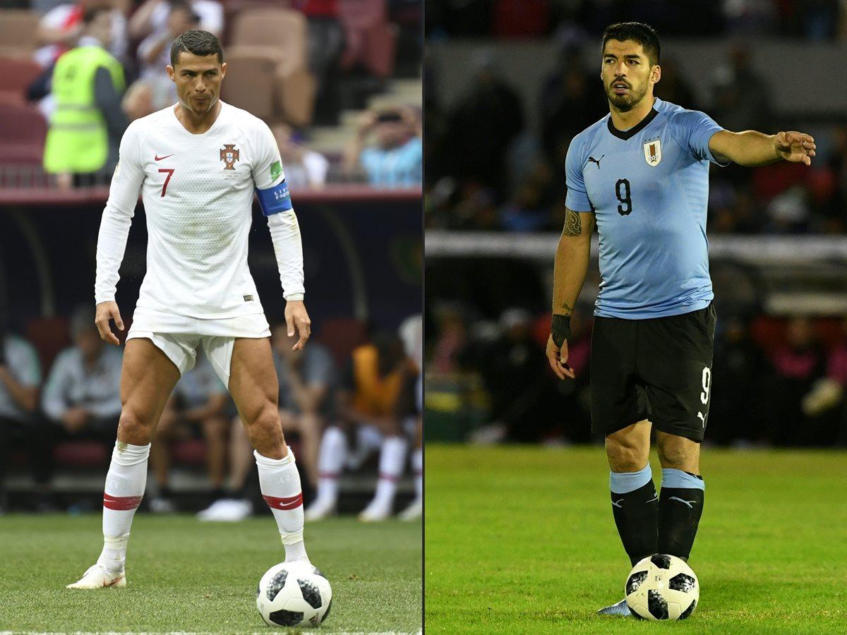 El interesante duelo entre Cristiano Ronaldo y Luis Suárez se trasladará de La Liga española hacia el Mundial de Rusia 2018. (Foto Prensa Libre: AFP)