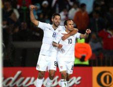 Landon Donovan y Clint Dempsey más que compañeros se han convertido en grandes amigos. (Foto Prensa Libre: Hemeroteca PL)