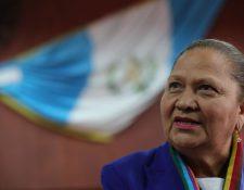 María Consuelo Porras da una conferencia de Prensa luego de conocerse su elección como Fiscal General. (Foto Prensa Libre: Estuardo Paredes)