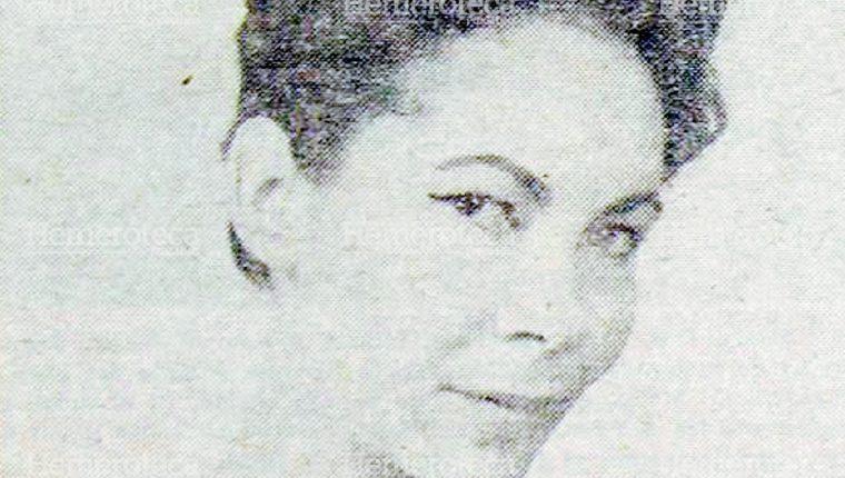 Actriz guatemalteca María Teresa Martínez en sus años de juventud. Foto: Hemeroteca PL