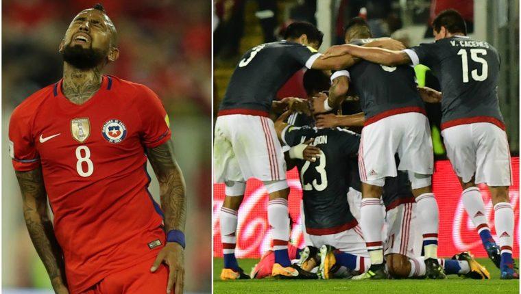 Arturo Vidal marcó en su propia portería en el juego frente a Paraguay. (Foto Prensa Libre: EFE y AFP)