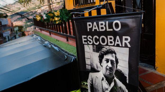 La imagen del narco colombiano Pablo Escobar sigue presente en algunos lugares de su natal Medellín (Colombia). (Foto: Getty Images).