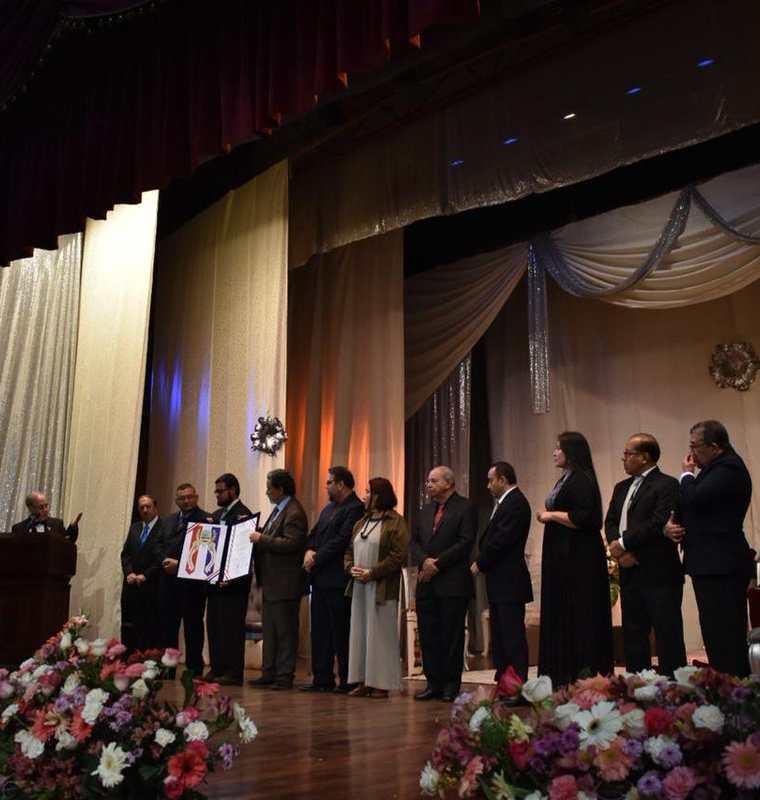 El certamen de Juegos Florales Hispanoamericanos fue dedicado a El Salvador. (Foto Prensa Libre: Fred Rivera)