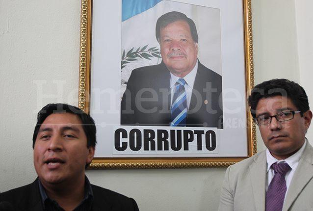 Al retrato de Rubén Darío Morales, presidente del Congreso en 2007, le colocaron un adjetivo poco halagador. (Foto: Hemeroteca PL)