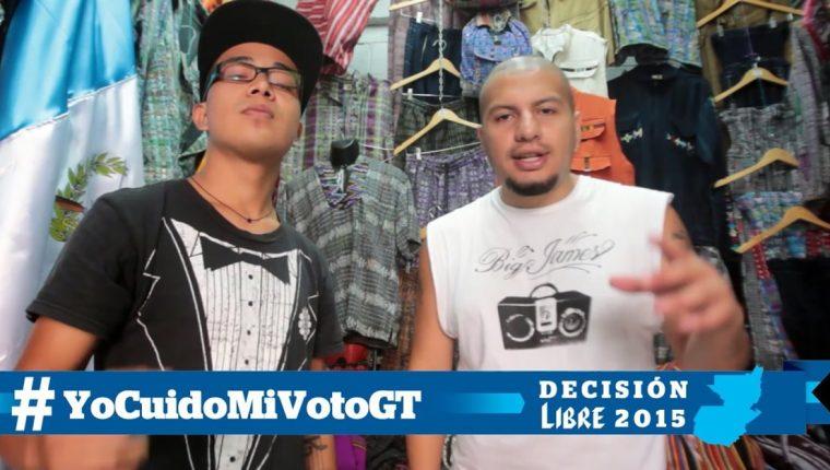 Angelo Dnd y Big James, son algunos integrantes de Tiempo Azul. (Foto Prensa Libre: Keneth Cruz)