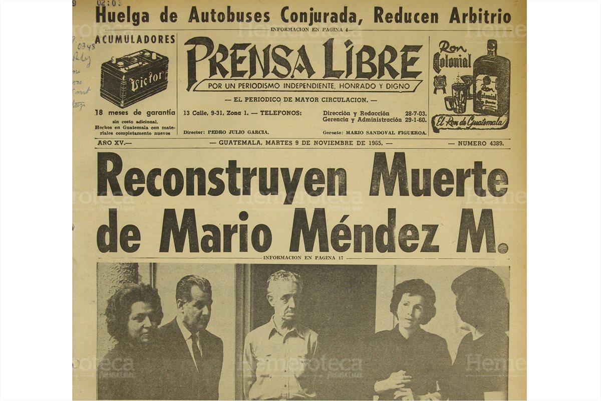 Asesinan a Mario Méndez Montenegro, ex alcalde capitalino