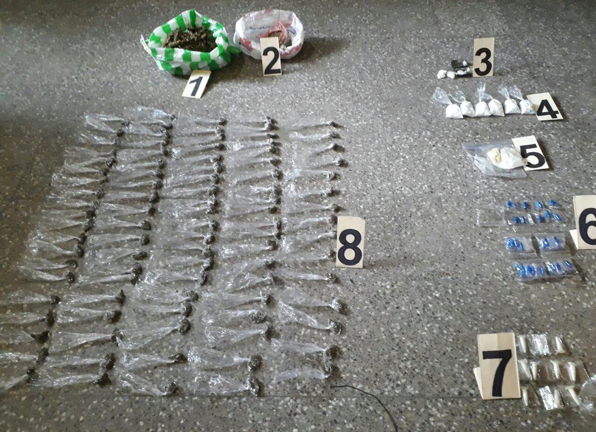 Entre lo decomisado en la Granja Penal Cantel había droga.