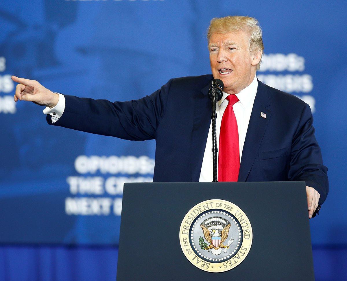 """Trump, anunció que pedirá la pena de muerte para los narcotraficantes """"realmente malos"""" e intentará endurecer las sentencias por ese crimen. (Foto Prensa Libre:AFP)."""