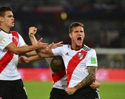 River Plate mostró su poderío ofensivo en el partido por el tercer puesto del Mundial de Clubes contra el Kashima Antlers. (Foto Prensa Libre: AFP)