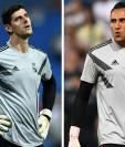 El belga y el costarricense mantienen una pugna por la titularidad en el Real Madrid. (Foto Prensa Libre: AFP)