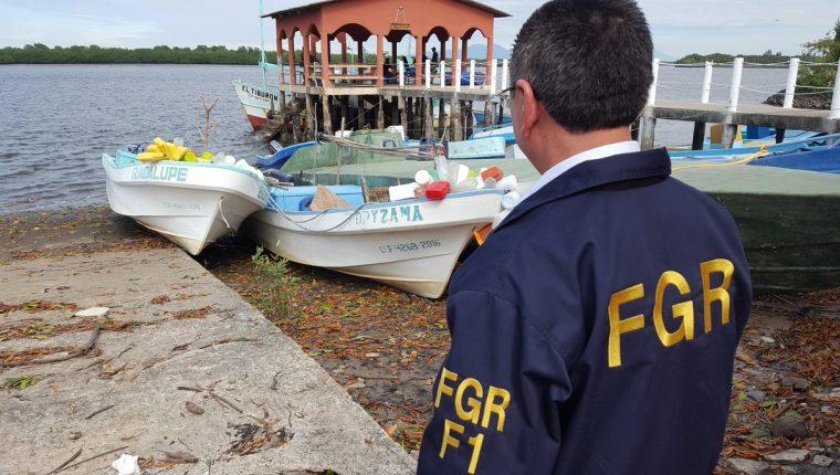 Costa de Acajutla donde fueron extraídas las lanchas. (Foto Prensa Libre: Fiscalía General de El Salvador).
