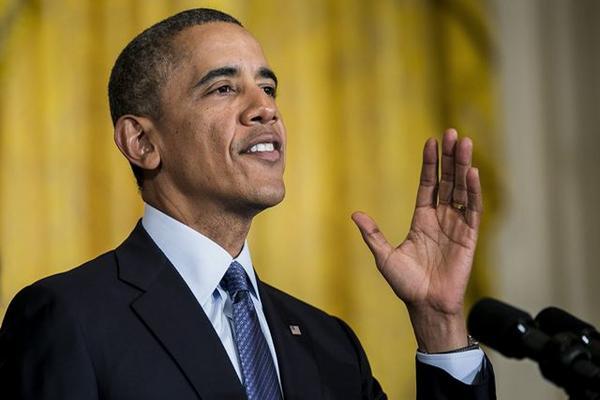 Presidente Barack Obama pronuncia un discurso en la Casa Blanca. (Foto Prensa Libre: EFE)