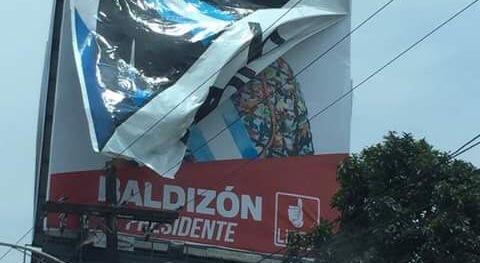 La campaña de Líder en una valla publicitaria de la capital. (Foto Prensa Libre: Hugo Castillo)