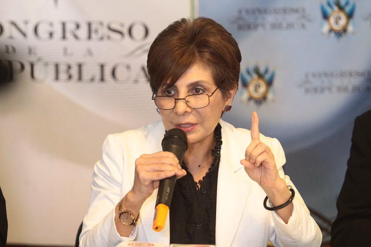 La diputada Nineth Montenegro, del partido Encuentro por Guatemala (EG), será investigada por el MP. (Foto Prensa Libre: Hemeroteca)