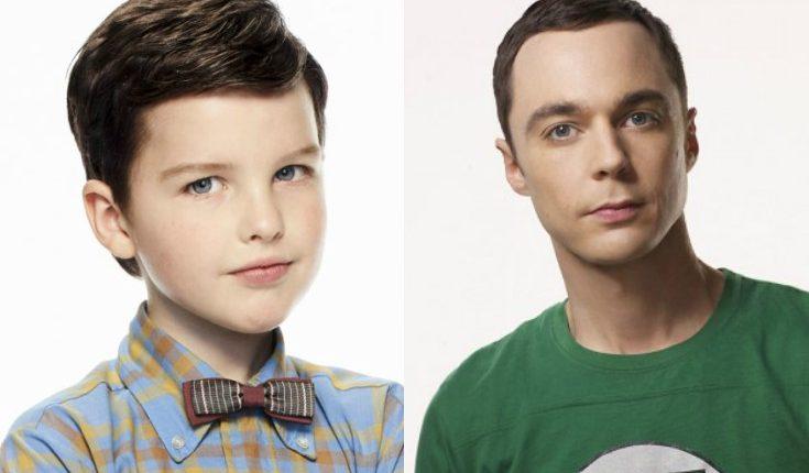 Iain Armitage, de 9 años, interpreta al joven Sheldon Cooper y Jim Parsons es el protagonista The Big Bang Theory. (Foto Prensa Libre: Twitter)