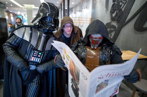 Seguidores tendrán un encuentro religioso que en el que hablarán de Star Wars, en Berlín. (Foto Prensa Libre: AFP)