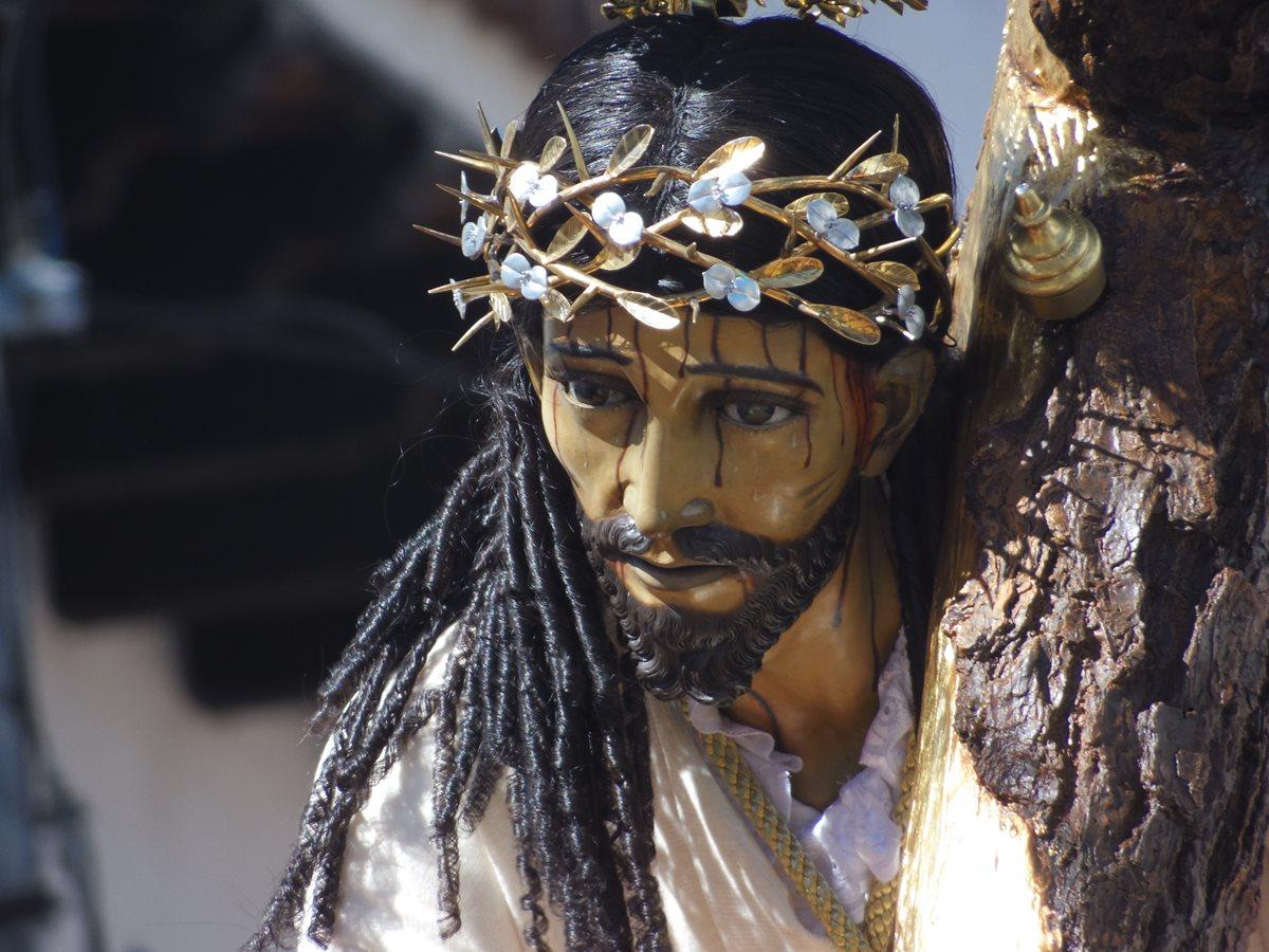 El dulce rostro de Jesús Nazareno de la Caída. (Foto: Néstor Galicia)