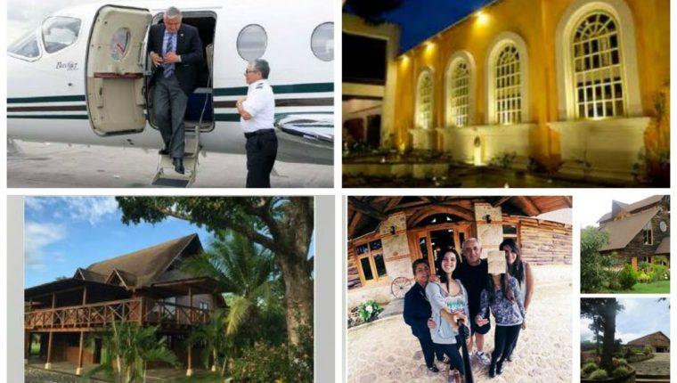 Un jet, hoteles y casas de descanso, entre las propiedades adquiridas con el dinero producto de sobornos y corrupción. (Foto Prensa Libre: MP)