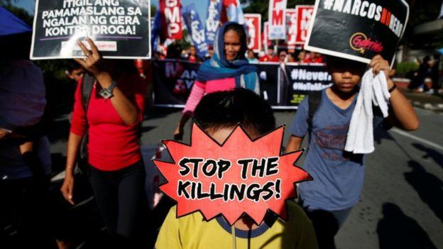"""""""En Filipinas hay tres millones de drogadictos y me alegraría masacrarlos"""", dijo Duterte en 2016. REUTERS"""