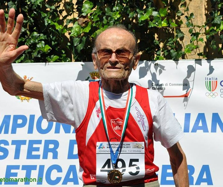 Ottaviani estará en competencias a sus 101 años en los máster de atletismo. (Foto Prensa Libre: internet)