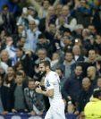 Nacho Fernández festejó a todo pulmón el gol que marcó frente al PSG en la Champions League. (Foto Prensa Libre: AP)