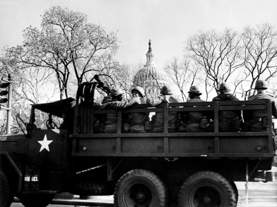 A Washington llegaron 13.000 soldados. GETTY