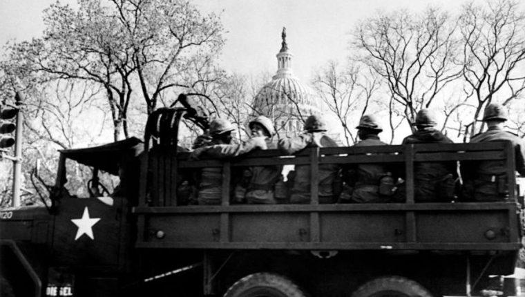 A Washington llegaron 13.000 soldados. GETTY