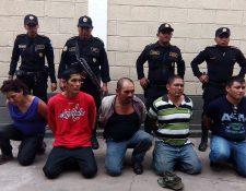 Los cinco capturados fueron remitidos a un juzgado de la cabecera de Jalapa. (Foto Prensa Libre: Hugo Oliva)