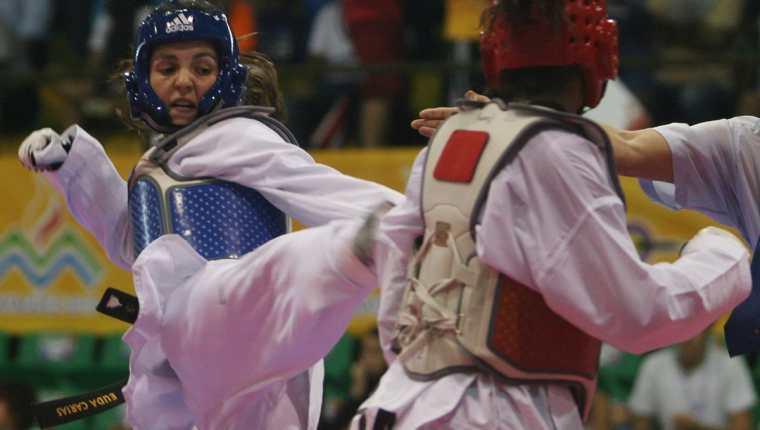 Euda Carías es la referente del taekuondo en Guatemala y compitió en los Juegos Olímpicos de Atenas 2004. (Foto Prensa Libre: Hemeroteca PL)