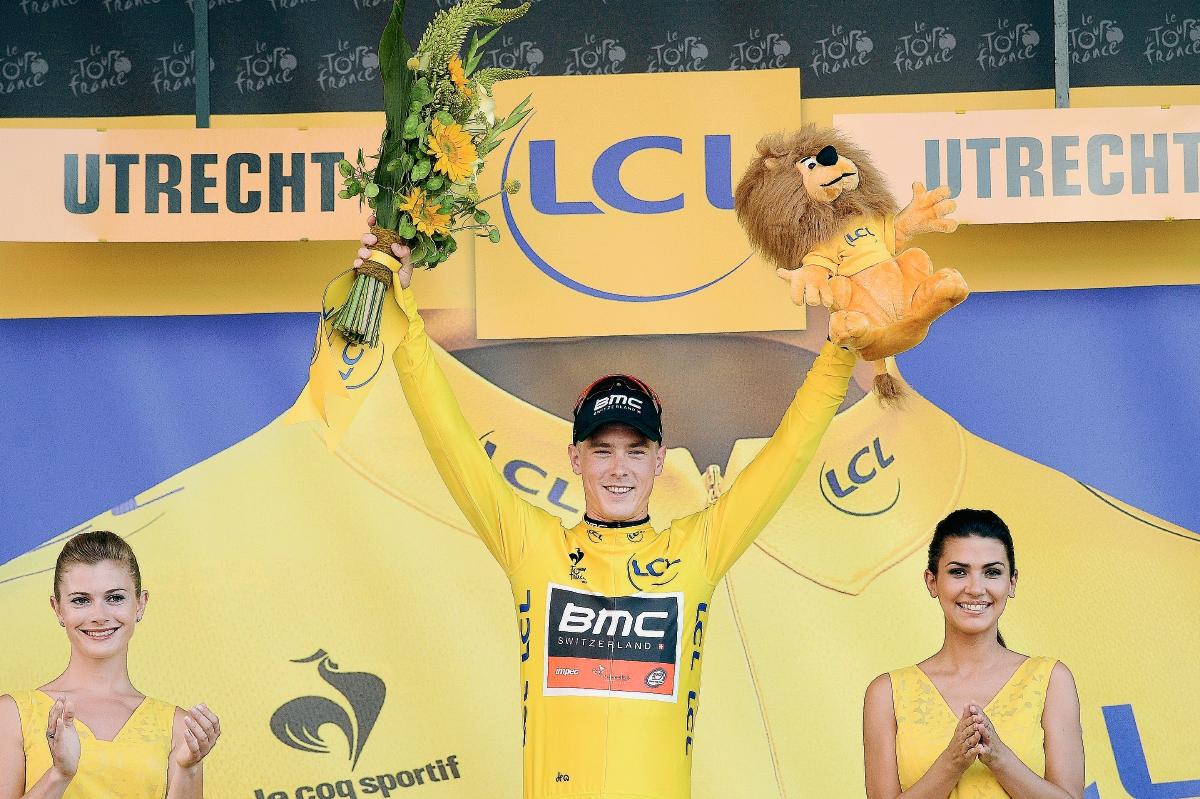 El australiano Dennis, primer líder del Tour, con una media récord