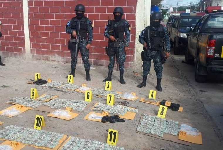 Lugar donde ocurrió el decomiso en Nentón, Huehuetenango. (Foto Prensa Libre: PNC).
