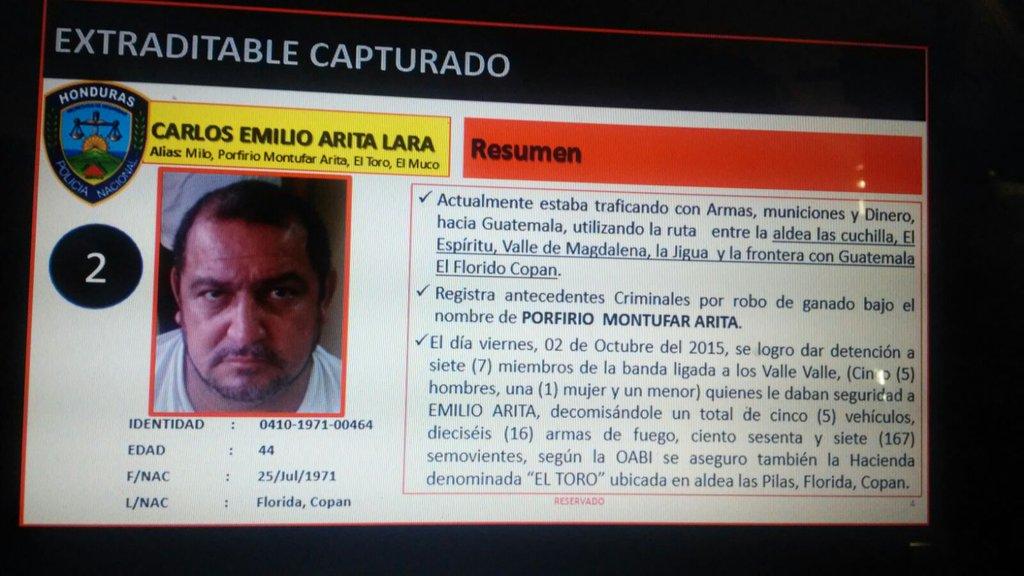 Capturan en Izabal a presunto líder de sicarios del cartel hondureño de los Valle Valle