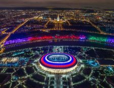 Espectacular vista del estadio Luzhniki que albergará varios encuentros de Rusia 2018. (Foto Prensa Libre: AFP)