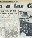 Pablo VI abogó por la paz el Domingo de Resurrección de 1965. (Foto: Hemeroteca PL)