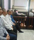 Los procesados durante la audiencia de este viernes. (Foto Prensa Libre: La Red).