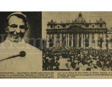 El Papa Juan Pablo I fue electo el 26/08/1978. (Foto: Hemeroteca PL)