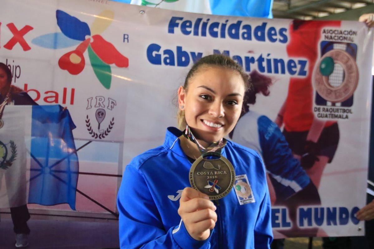 Ana Gabriela Martínez regresa a Guatemala como campeona del mundo en raquetbol femenino