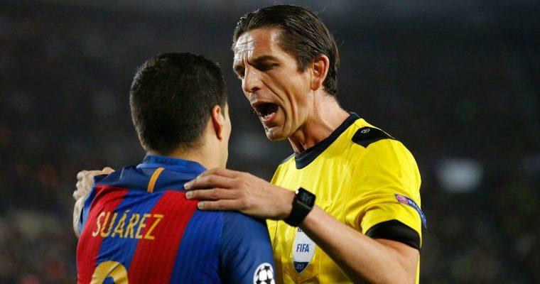 El árbitro alemán Deniz Ayketin, protagonista en el triunfo del Barcelona por 6-1 en la vuelta de los octavos de final de Champions contra el PSG, no recibirá ningún castigo (Foto Prensa Libre: tomada de internet)