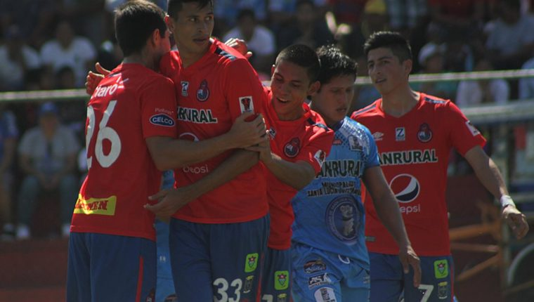 El ariete mexicano Othoniel Arce anotó el primer gol de Municipal en su etapa de amistosos, de cara al Clausura 2019 (Foto Prensa Libre: CSD Municipal)